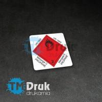 Etykieta ADR - Propan na folii samoprzylepnej
