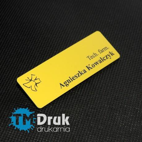 Grawerowany identyfikator dla pracownika apteki i farmacji