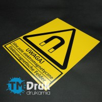 Produkujemy znaki BHP na płytach i foliach samoprzylepnych