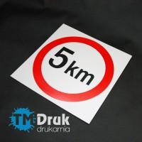 Znak Ograniczenie predkości do 5 km/h