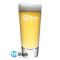 Grawerowane logo na szklance do piwa