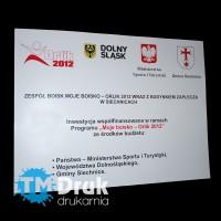 """Tablica informacyjna o boisku z programu """"Orlik 2012"""""""