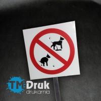 """Tabliczka """"Zakaz wyprowadzania psów"""""""