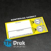 Etykiety uzupełniające do przeglądu gaśnic