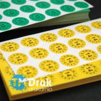 Kółko z datą, datownik, etykieta do zaznaczenia daty na kontrolce - TM Druk Drukarnia