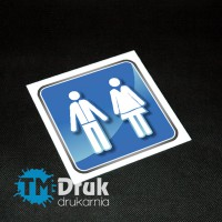 Tabliczka piktogram informacyjny toaleta na PCV - Druk UV