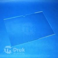 Tabliczka na wymienną treść - A4 29,7x10 cm z plexi