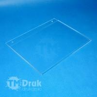Kieszonka z otworami do zawieszenia - A5 21x14,8 cm z plexi
